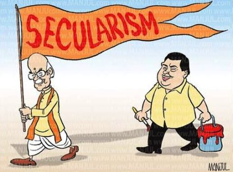 MANJUL_CARTOON_300912pol_Advani_Gadkari_BJP_Secularism